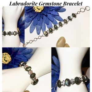 HOT Genuine Labradorite Artisan Statement Bracelet